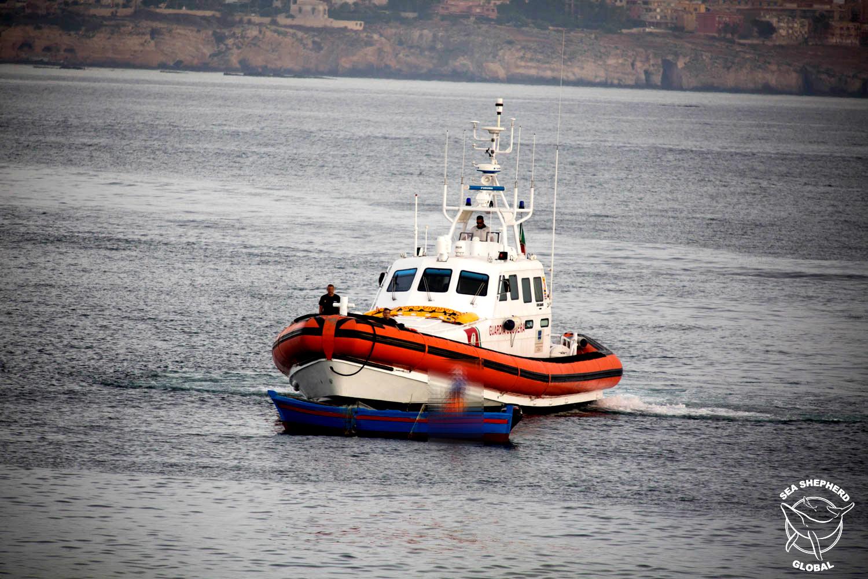 La guardia costiera in supporto ad Operazione Siracusa