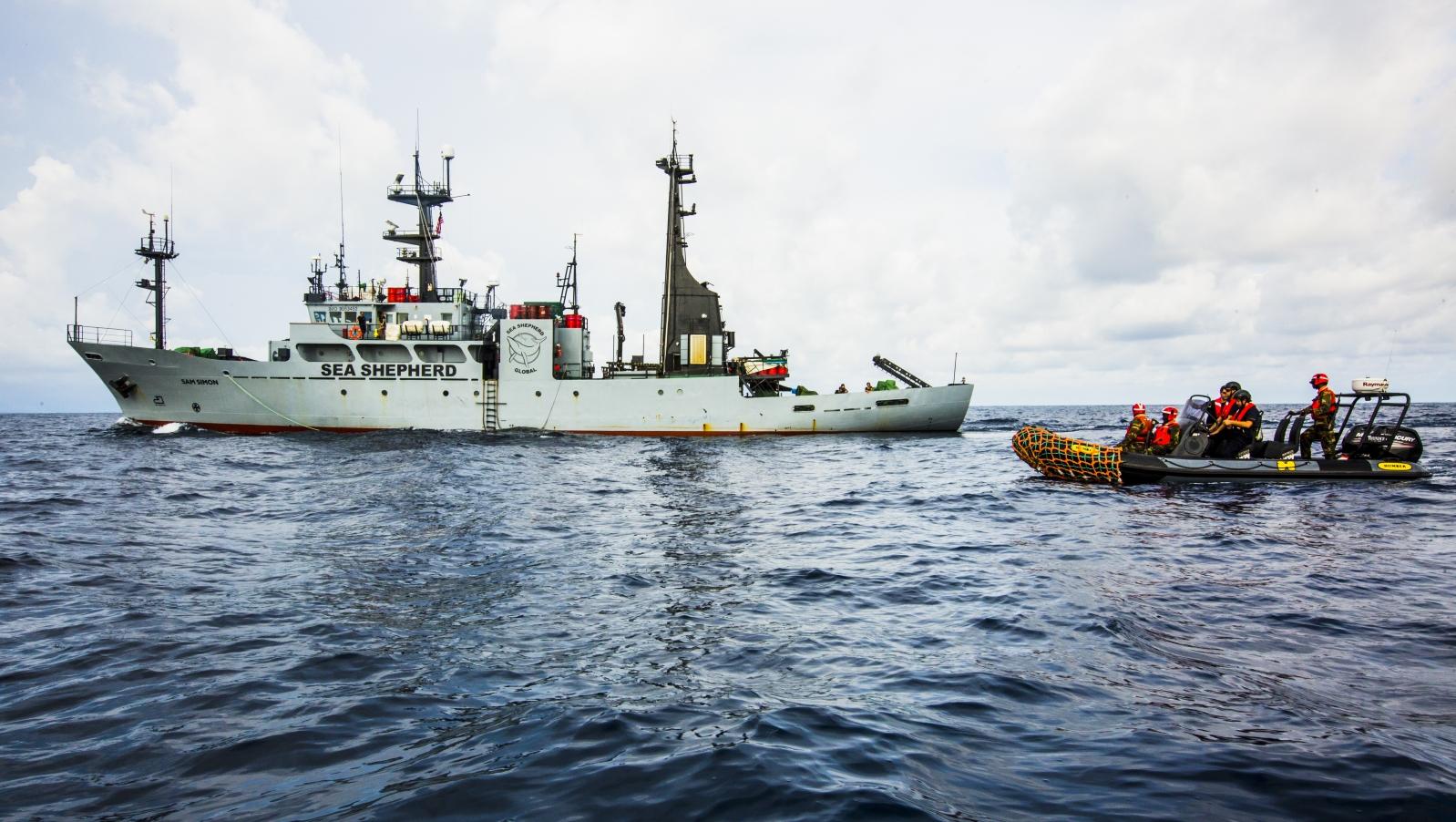 Operazone congiunta tra Sea Shepherd e la Guardia Costiera liberiana